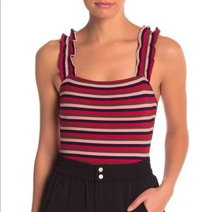 🎉 Elodie Striped Ruffle Bodysuit